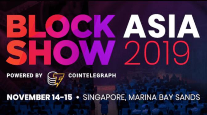 BlockchainSlovakia BLOCKSHOW Asia 2019